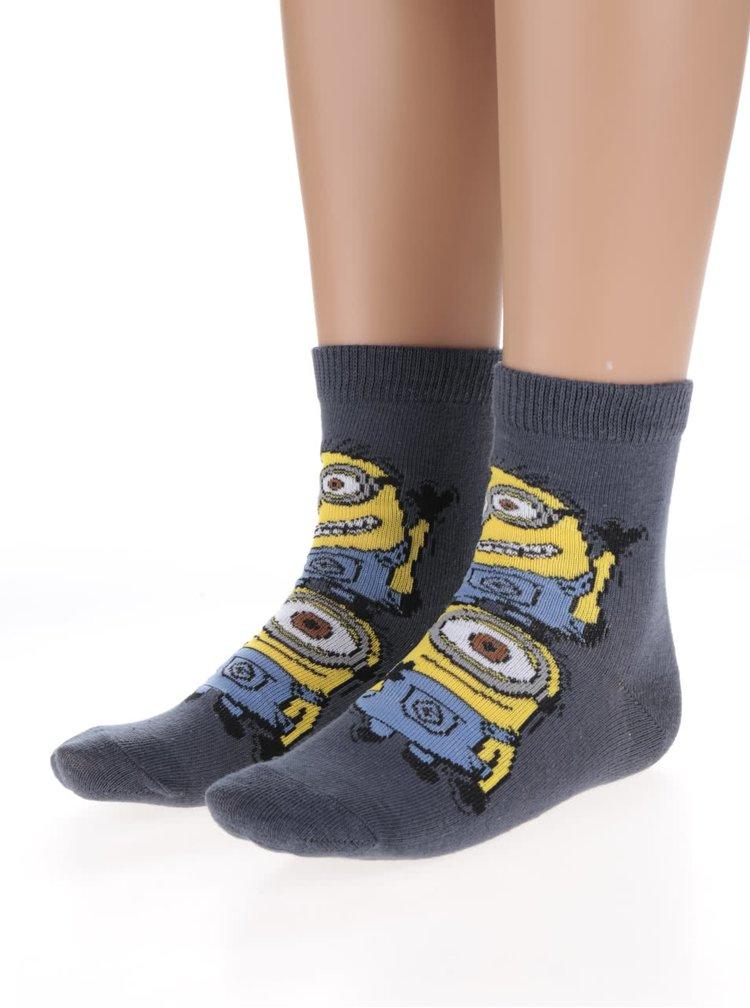 Sada 3 barevných klučičích ponožek s motivem Mimoňů name it Minions