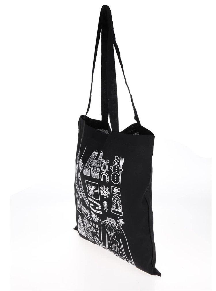 Černá plátěná taška ZOOT Original Vánoce