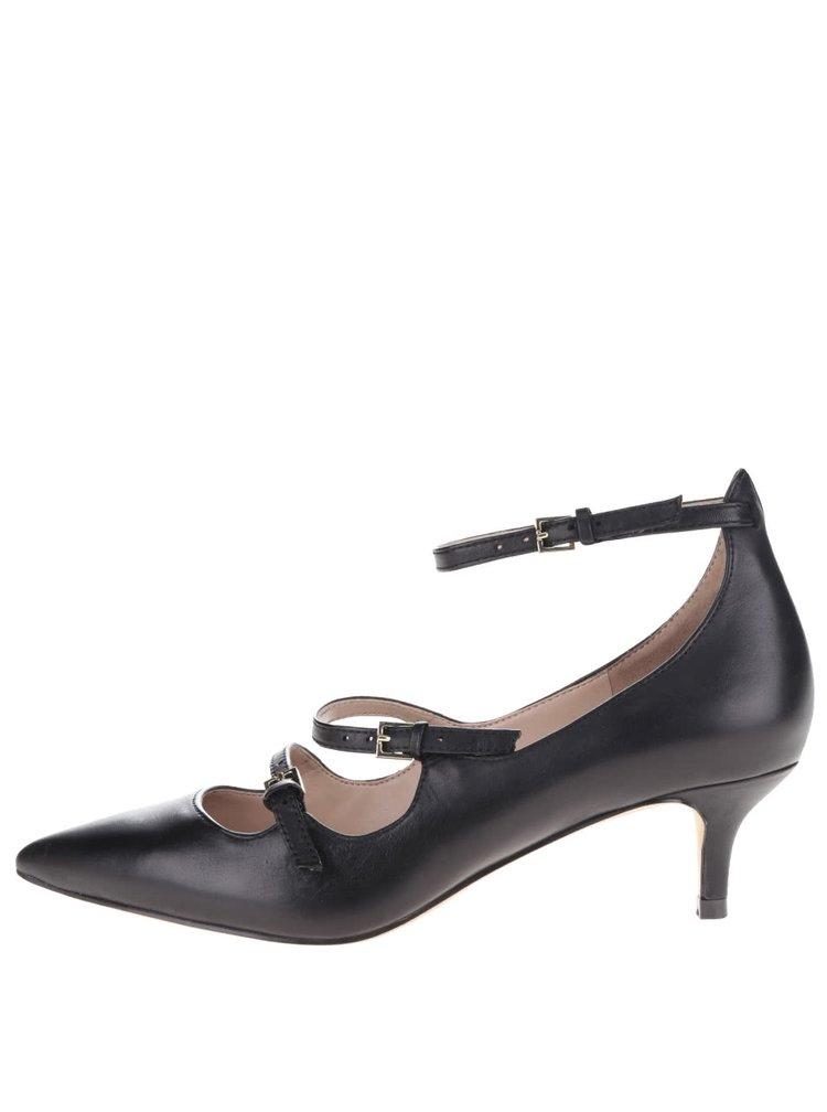Pantofi negri ALDO Altafesta din piele cu barete subțiri