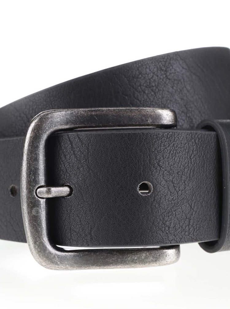 Černý koženkový pásek ONLY & SONS Cray