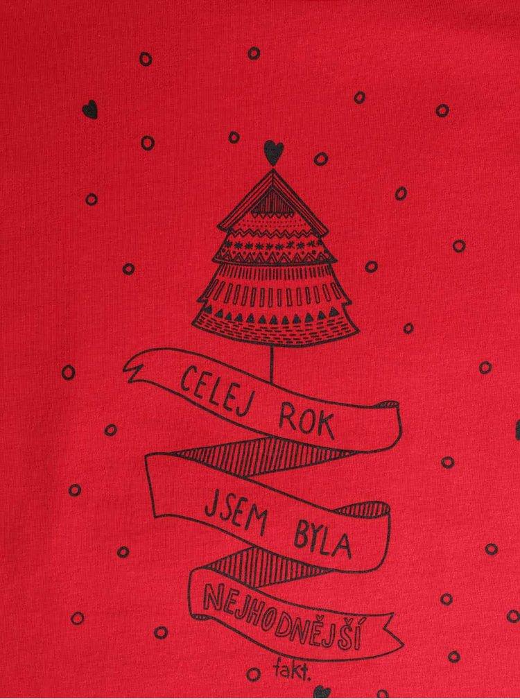 Červené dámské tričko s potiskem ZOOT Original Nejhodnější
