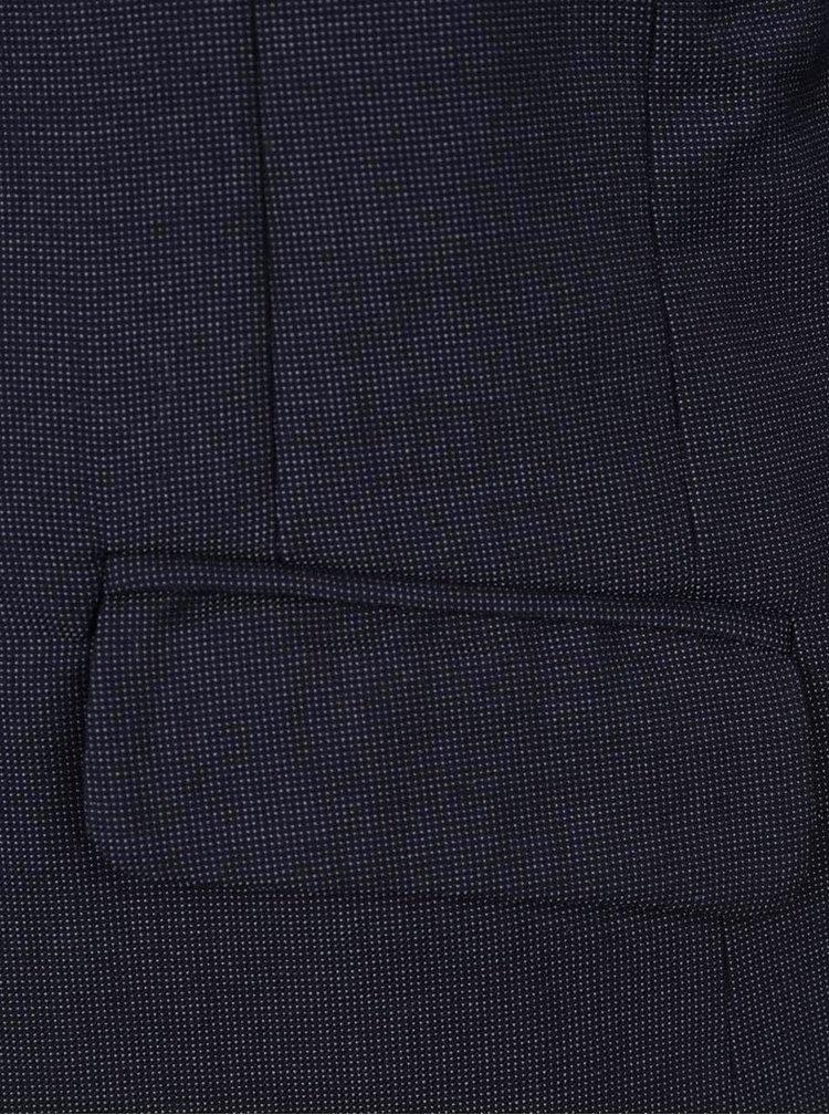 Tmavě modré klučičí formální sako s jemným vzorem name it Holger