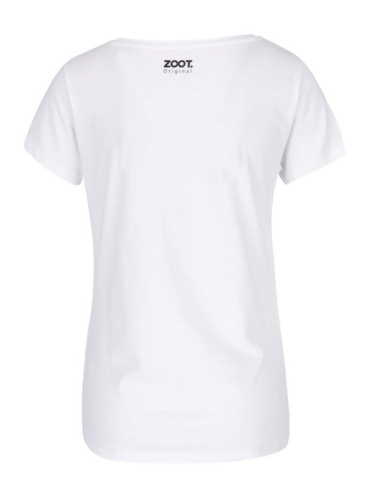 Bílé dámské tričko s potiskem ZOOT Originál More champagne