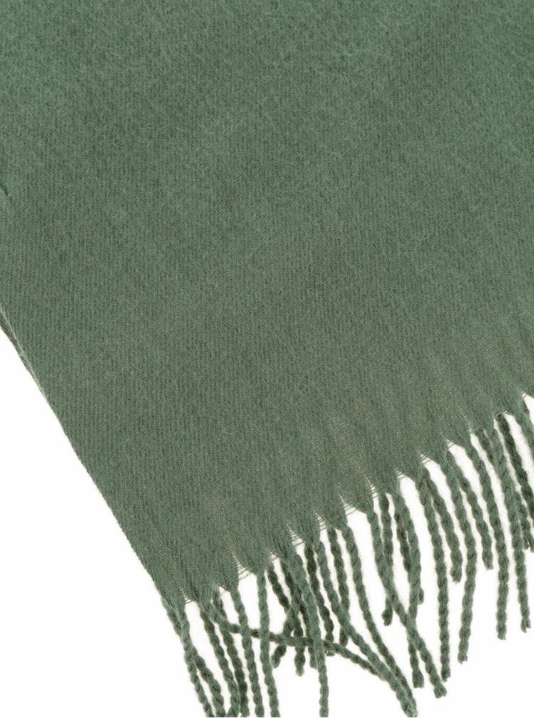 Esarfa verde cu adaos de lana - Pieces New Eira