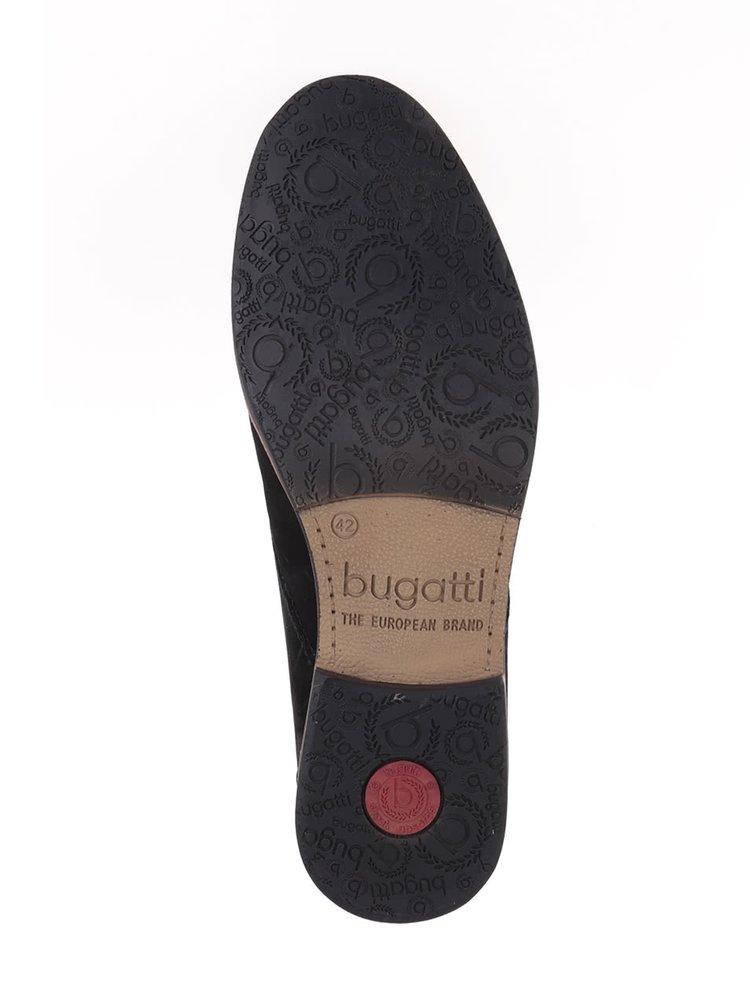 Černé pánské kožené polobotky bugatti Abramo