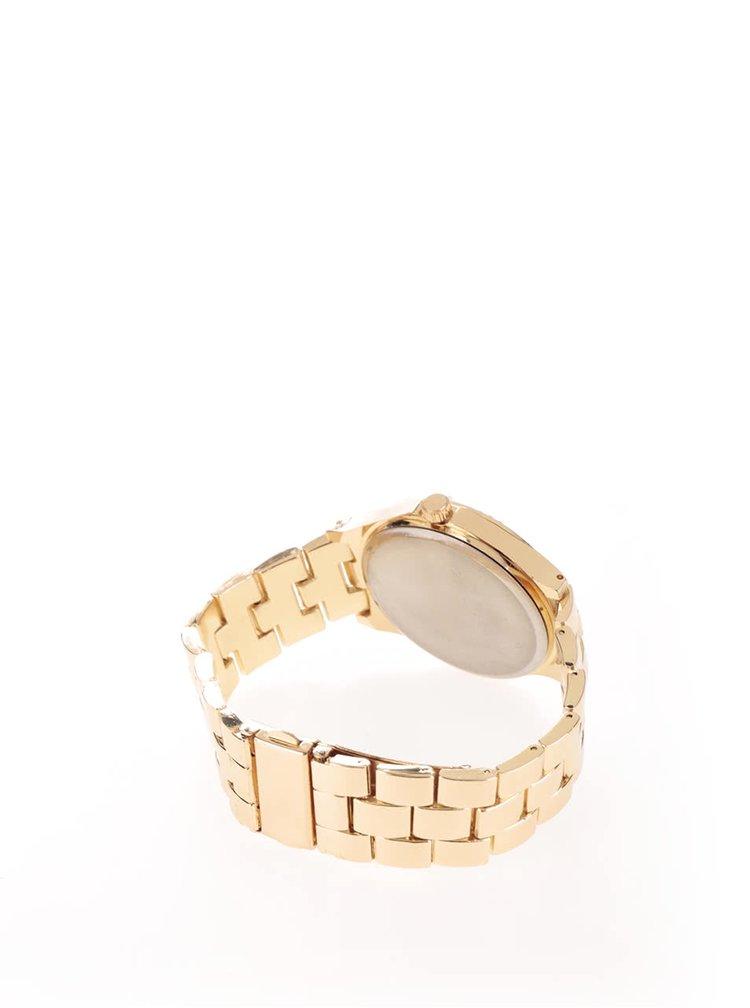 Hodinky ve zlaté barvě s kovovým páskem Haily´s Penny Mixy