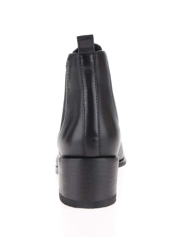 Černé kožené chelsea boty Vagabond Marja