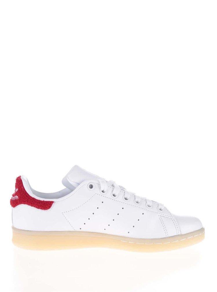 Červeno-biele dámske tenisky adidas Originals Stan Smith