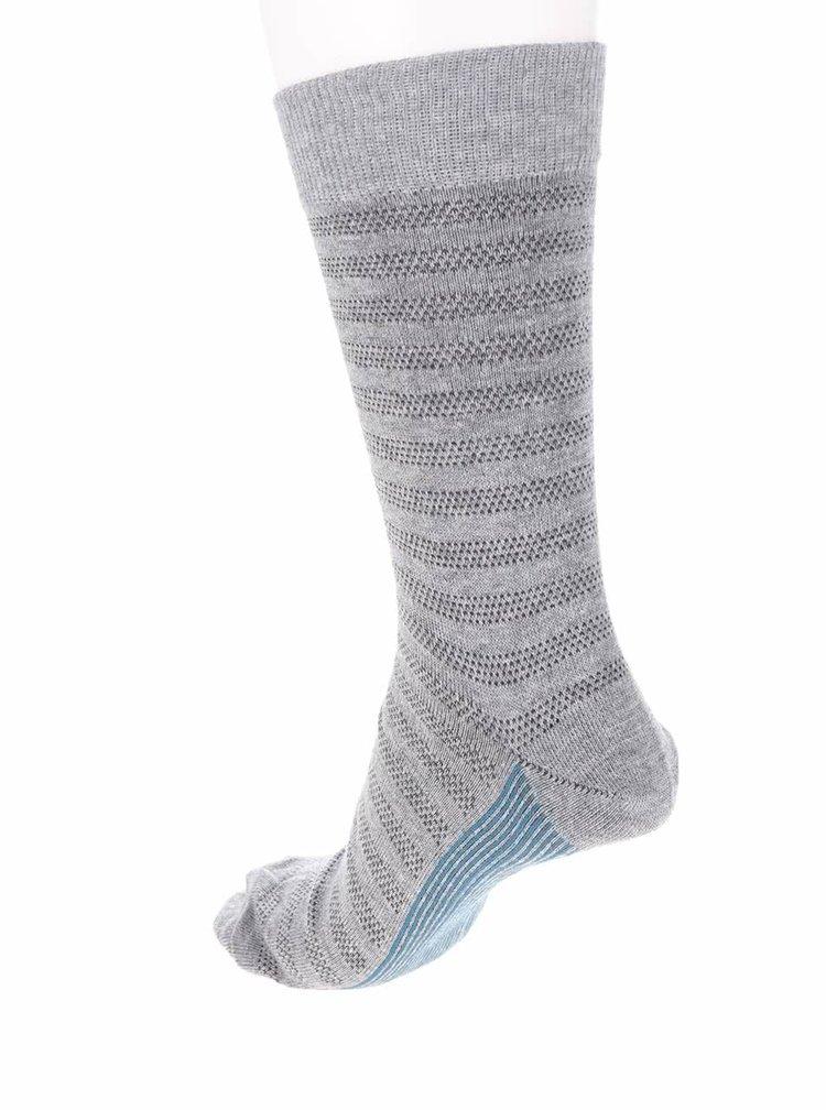 Súprava piatich vzorovaných ponožiek v sivej a tmavomodrej farbe Burton Menswear London