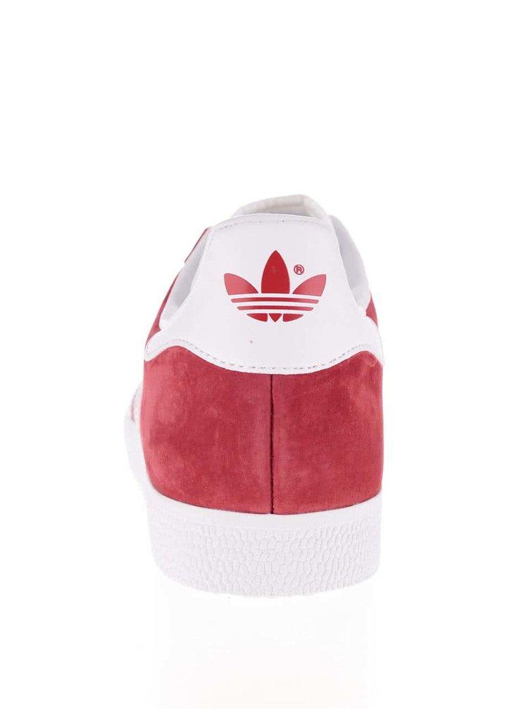 Červené pánské semišové tenisky adidas Originals Gazelle