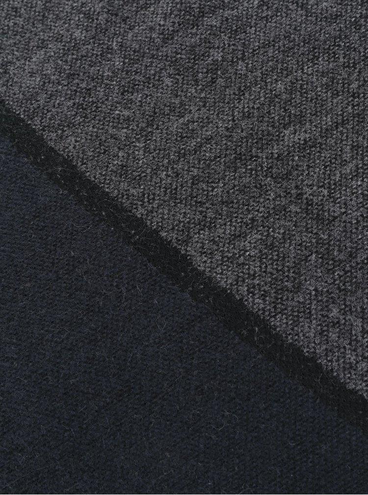 Šedo-modrá šála Pieces Dastic