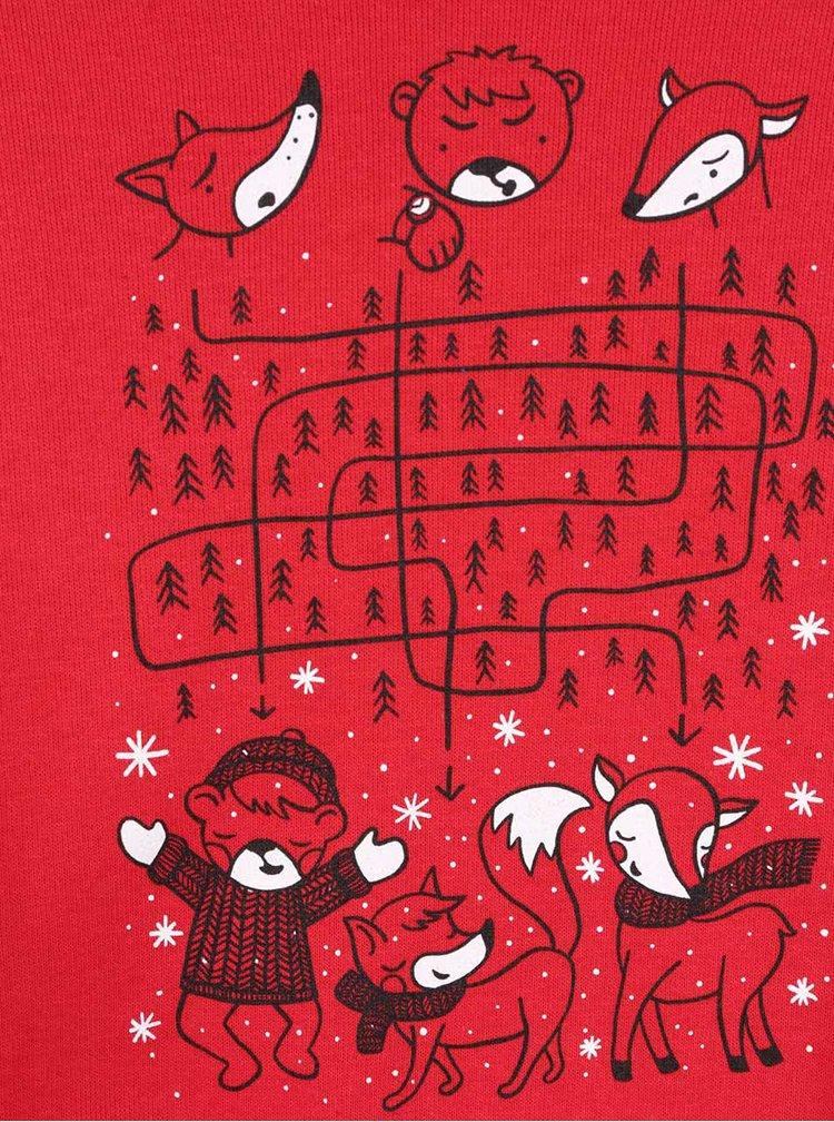 Červená holčičí mikina s potiskem ZOOT Kids V lese