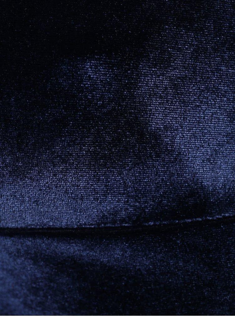 Tmavě modrá sametová podprsenka Pieces Thea
