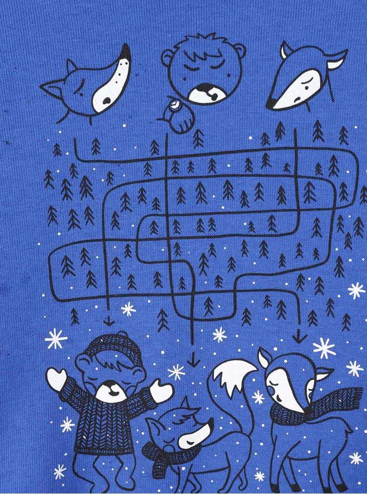 Bluză albastră cu imprimeu ZOOT Kids pentru băieți