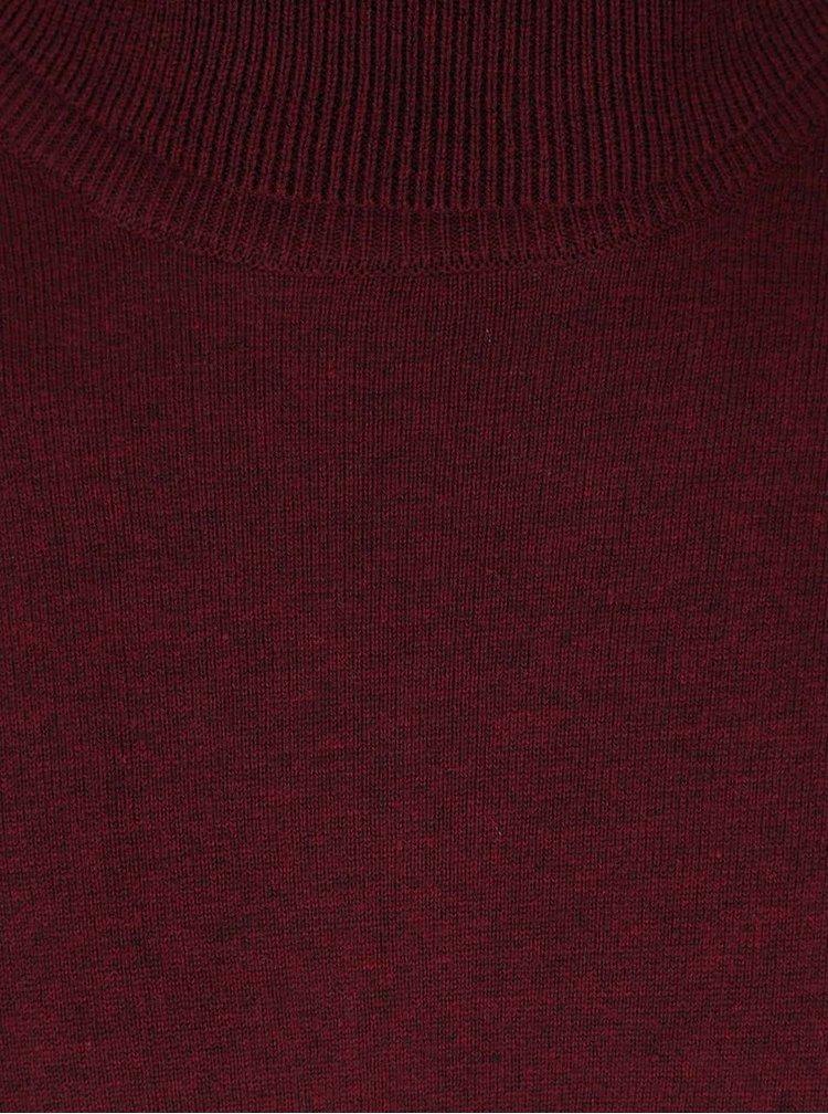Pulover vișiniu Burton Menswear London cu guler înalt