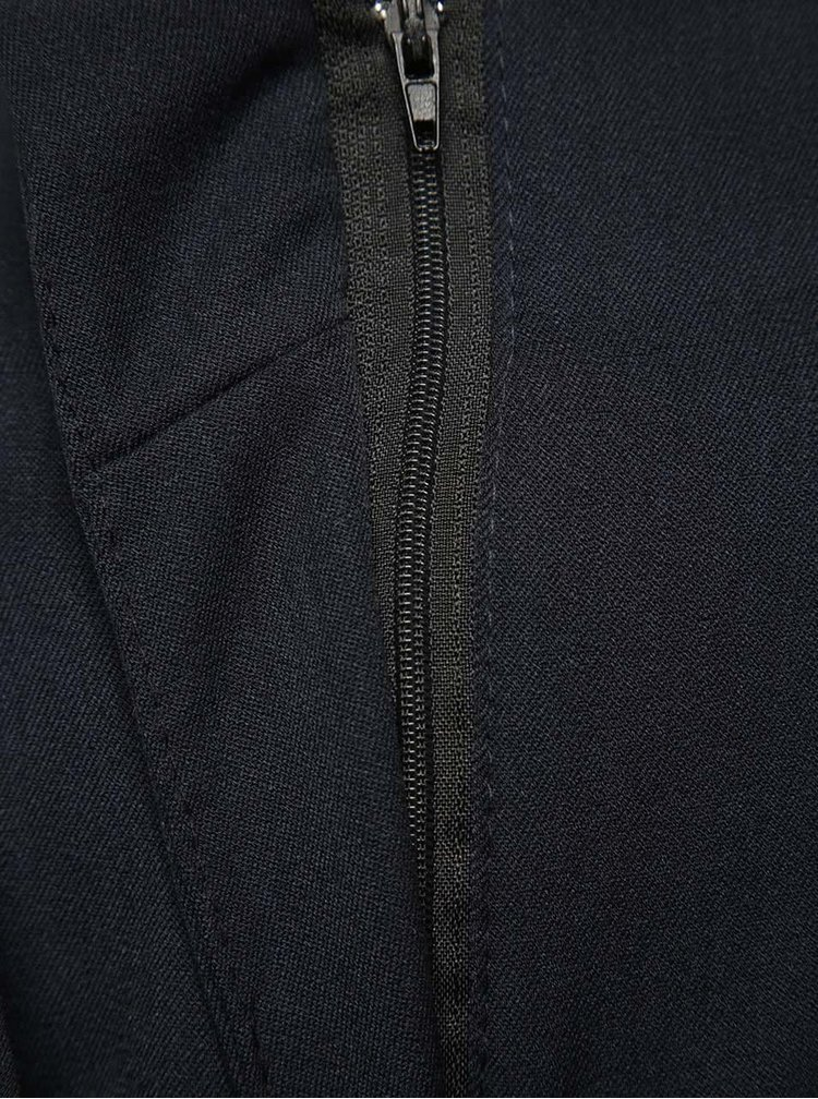 Tmavě modré kalhoty s vysokým pasem Madonna Macy Pant