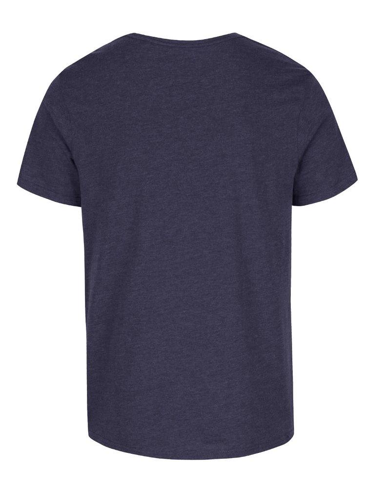 Tricou albastru Burton Menswear London cu model discret