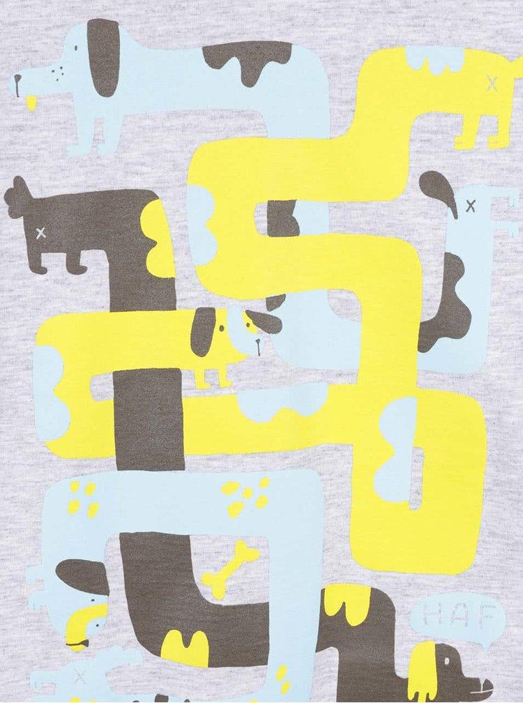 Bluză gri melanj cu imprimeu ZOOT Kids Hra pentru băieți