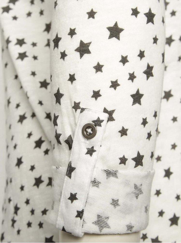 Krémové tričko s motívom hviezd a 3/4 rukávmi Haily´s Ocie