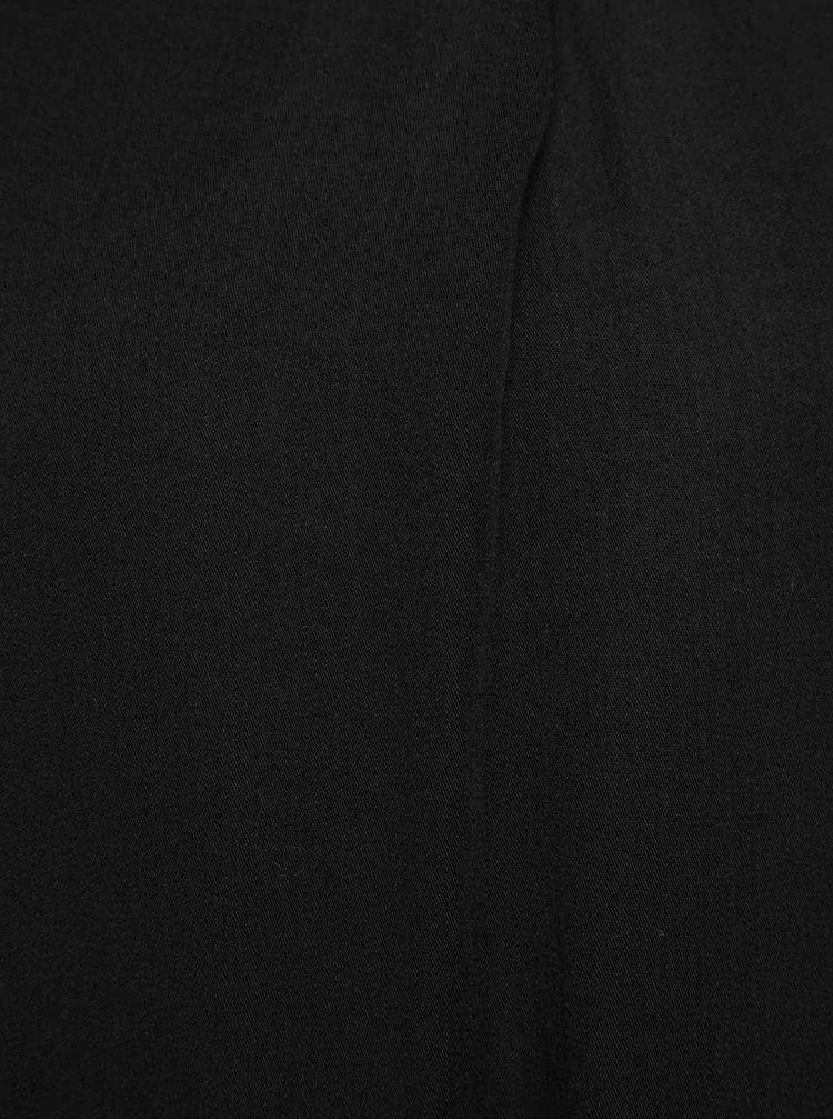 Černá halenka s dlouhým rukávem Madonna Meral