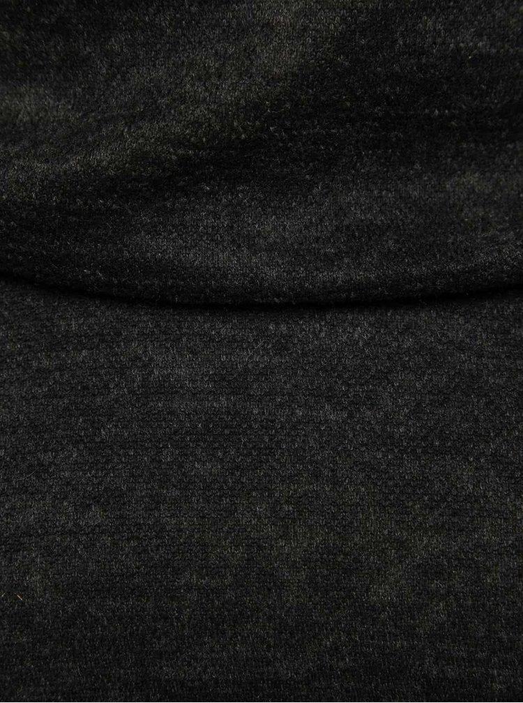 Černá mikina s límcem a kapucí Madonna Kiara