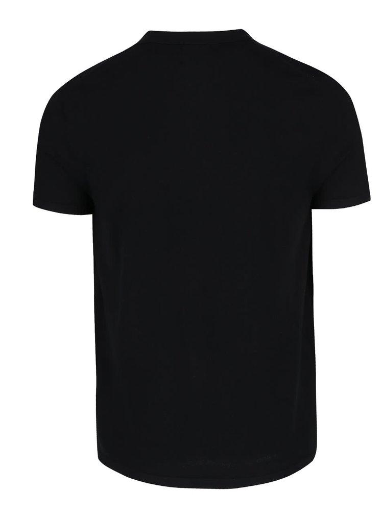Černé polo triko Burton Menswear London