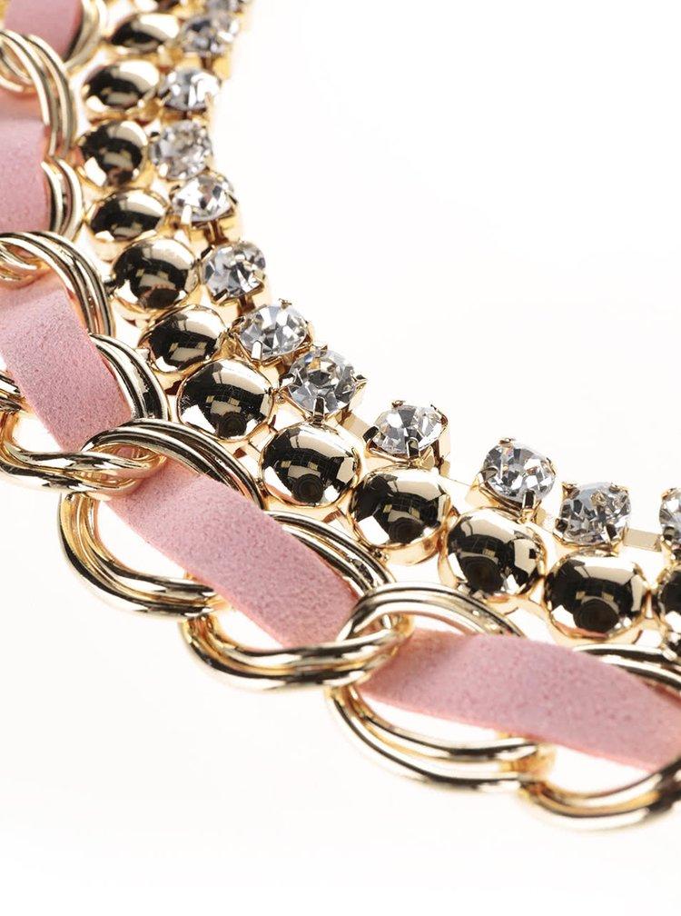 Náhrdelník v růžovo-zlaté barvě Madonna Grace