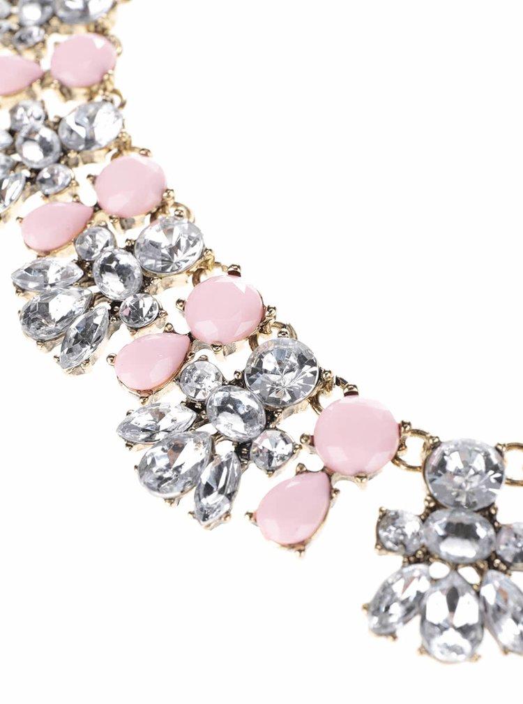 Růžový náhrdelník Madonna Melina