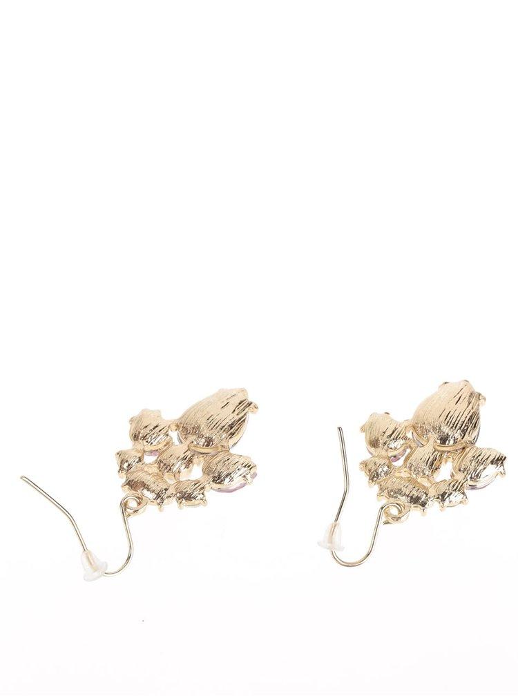 Náušnice s kamínky v růžovo-zlaté barvě Madonna