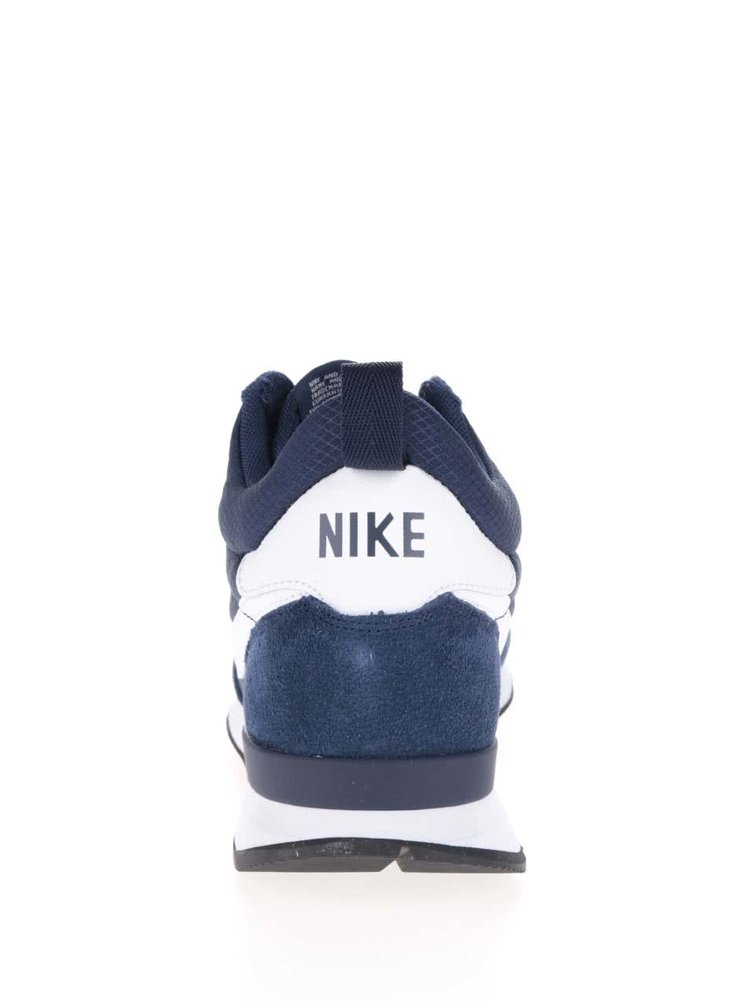 Tmavě modré kotníkové pánské tenisky se semišovými detaily Nike Internationalist Mid