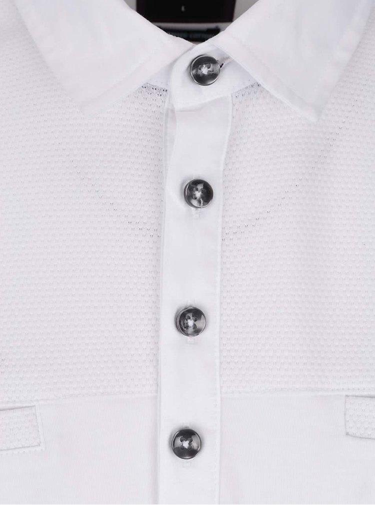 Tricou polo alb Burton Menswear London din bumbac