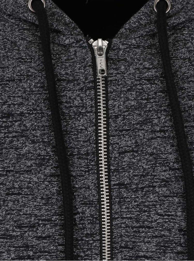 Šedo-černá mikina s kapucí Burton Menswear London