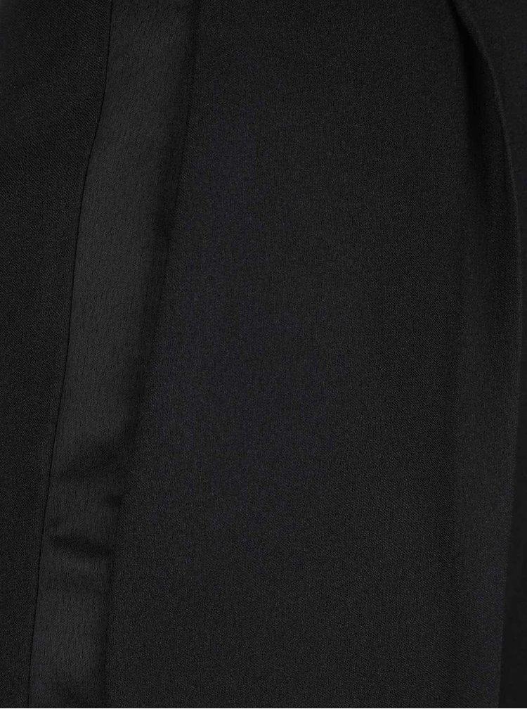 Čierne nohavice s vysokým pásom Miss Selfridge