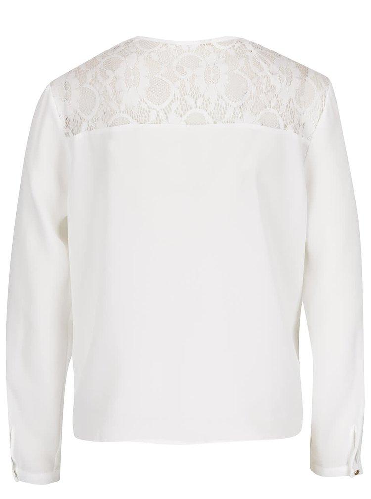 Bílá halenka s krajkou na zádech Miss Selfridge