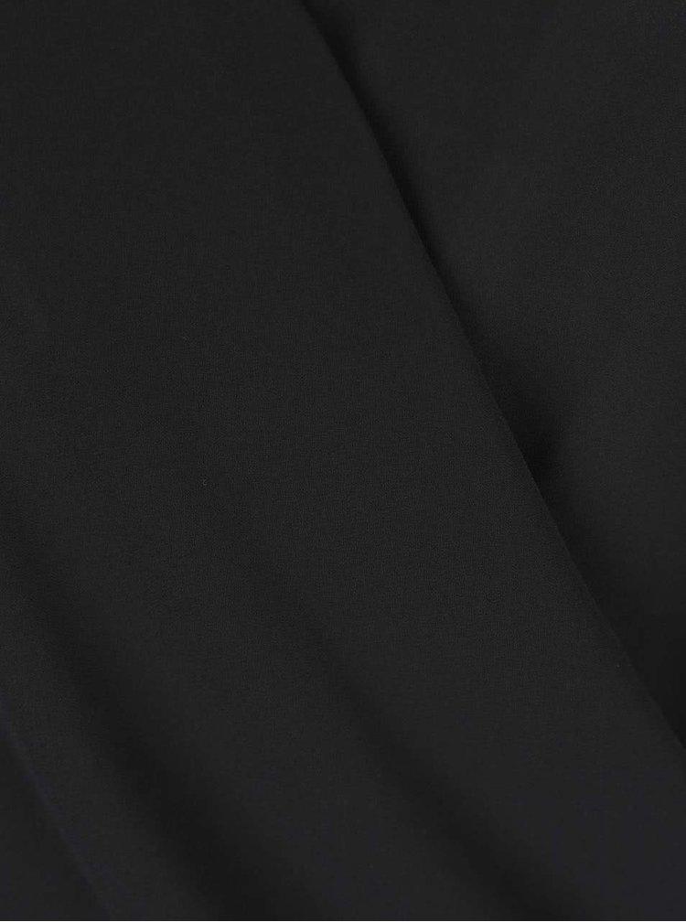 Čierna blúzka s čipkou na chrbte Miss Selfridge