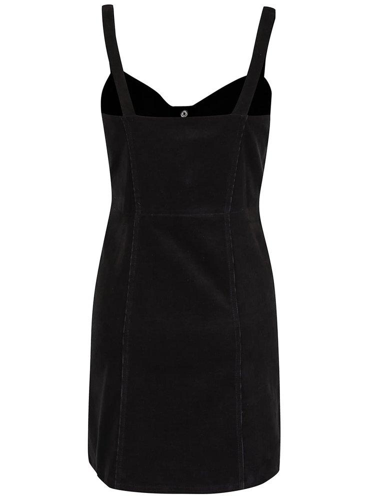 Čierne prepínacie menčestrové šaty Miss Selfridge
