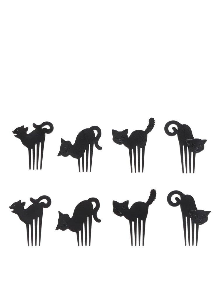 Súprava napichovadiel na jednohubky v tvare mačiek  FRED