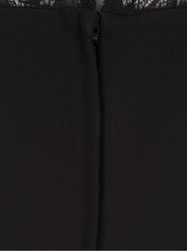 Rochie neagră cu detalii din dantelă Miss Selfridge