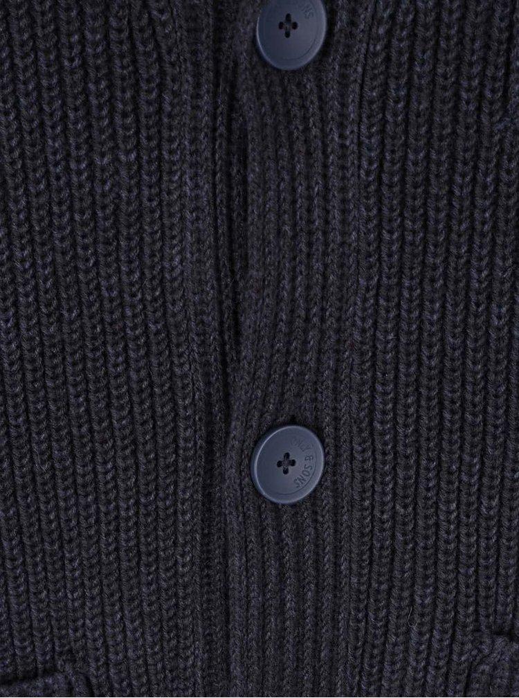 Tmavě modrý kardigan s kapsami ONLY & SONS Casimir