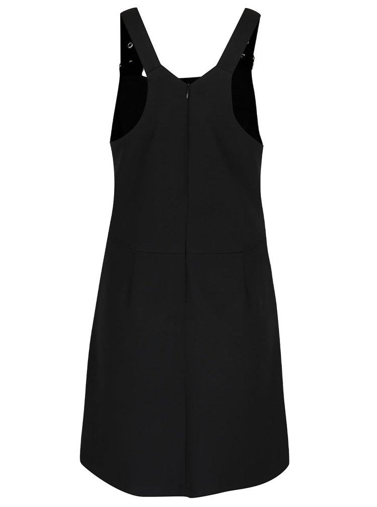 Rochie neagră cu bretele ajustabile și buzunare Miss Selfridge