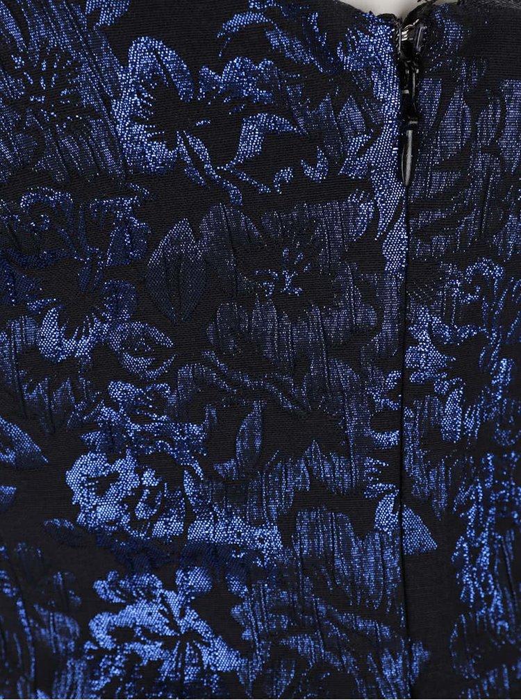 Rochie neagra cu model floral albastru Miss Selfridge