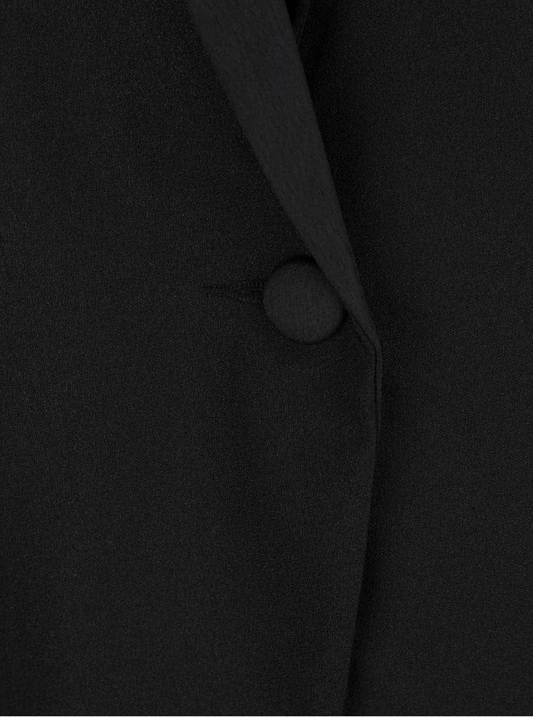 Čierny oversize blejzer Miss Selfridge