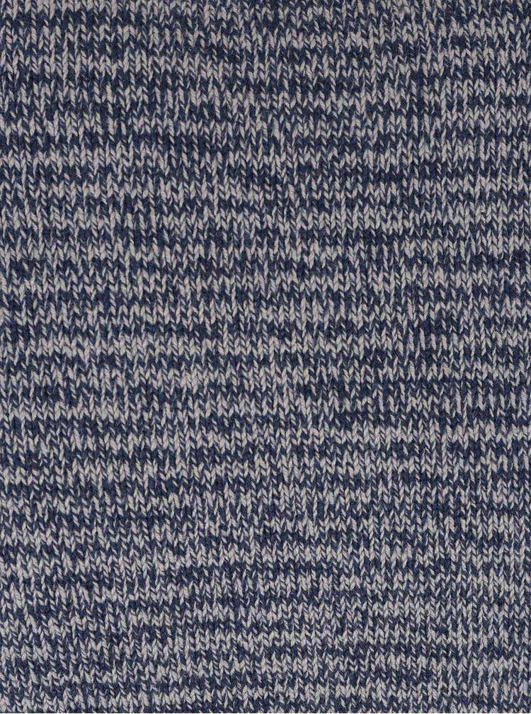 Šedo-modrý žíhaný pruhovaný svetr ONLY & SONS Carnell