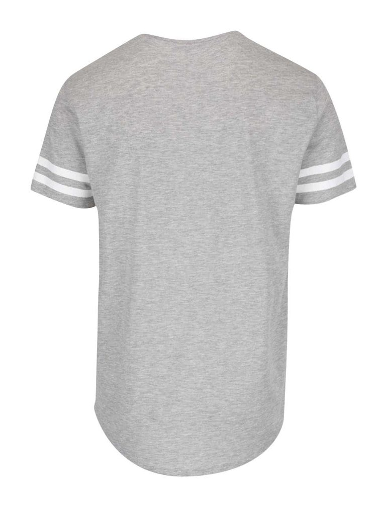 Šedé triko s pruhy a krátkými rukávy ONLY & SONS Matt