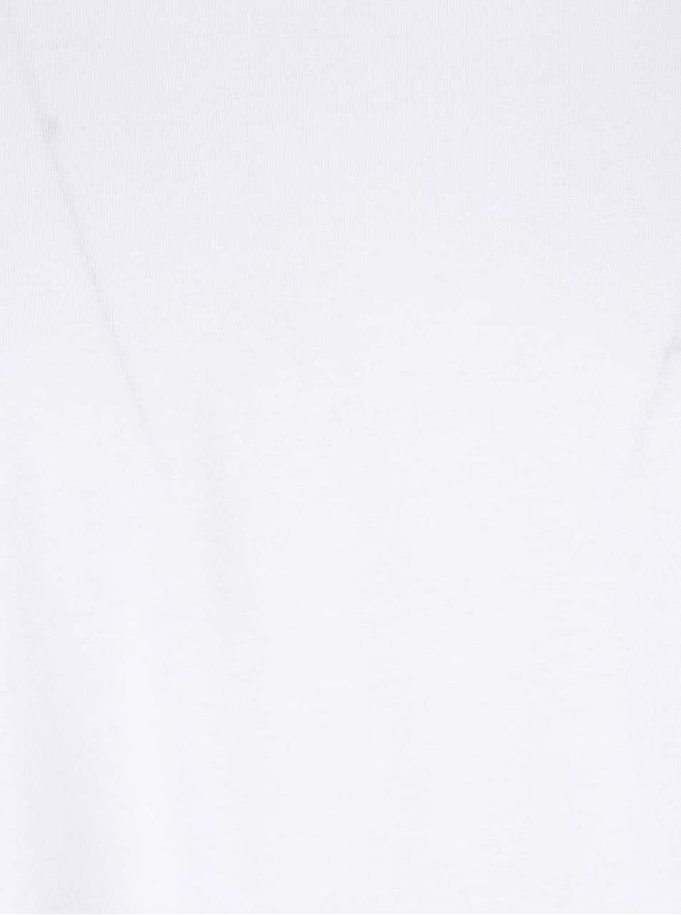 Bílé tričko s krátkými rukávy ONLY & SONS Curved