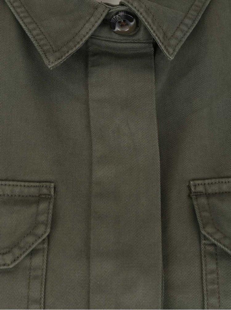 Jachetă kaki cu buzunare Miss Selfridge