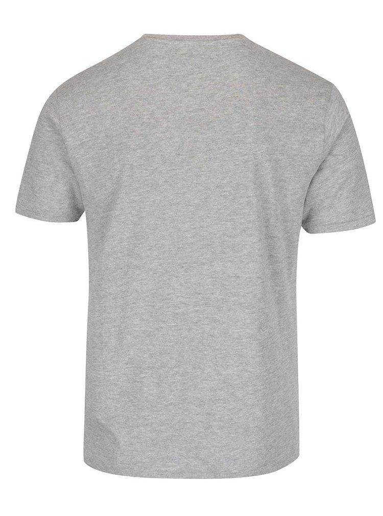 Šedé triko s potiskem a krátkými rukávy ONLY & SONS Axel