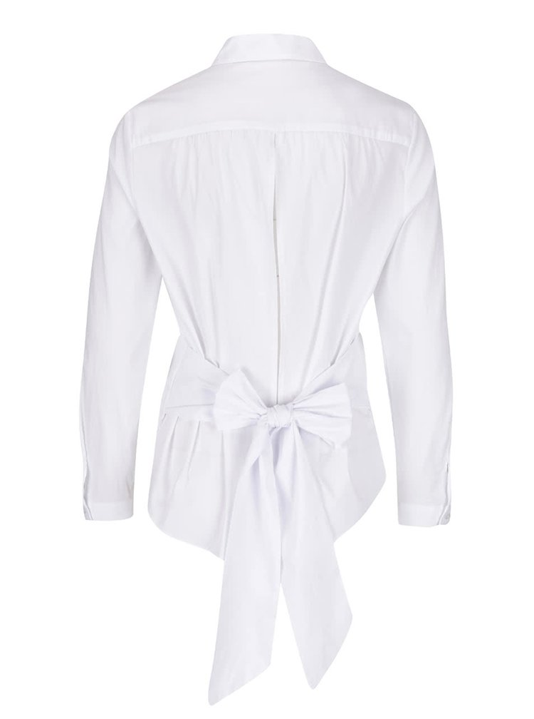 Bílá košile s mašlí Miss Selfridge