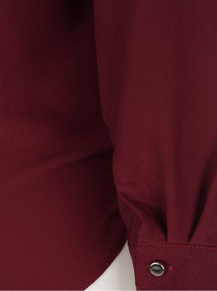Bluză vișinie Miss Selfridge cu aplicații