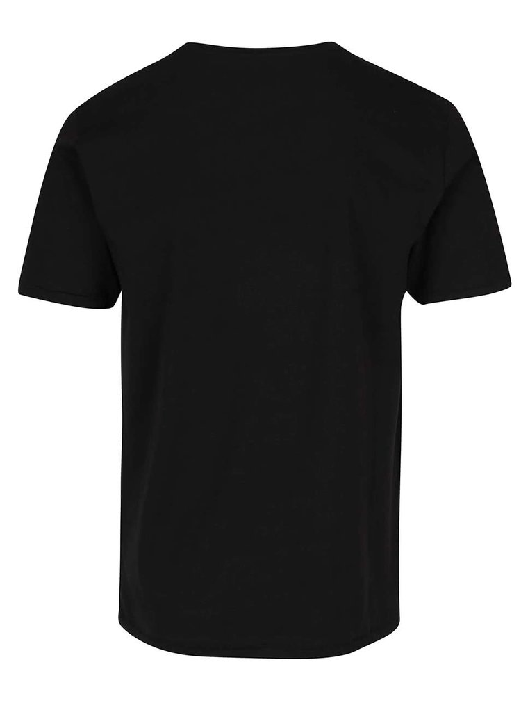 Tricou negru ONLY & SONS Axel din bumbac cu print